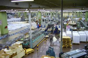 Inside the printing press