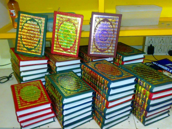Qurans that were delivered by IPH In Kochi, Kerala