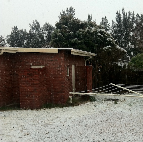 snow in newcastle kzn SA
