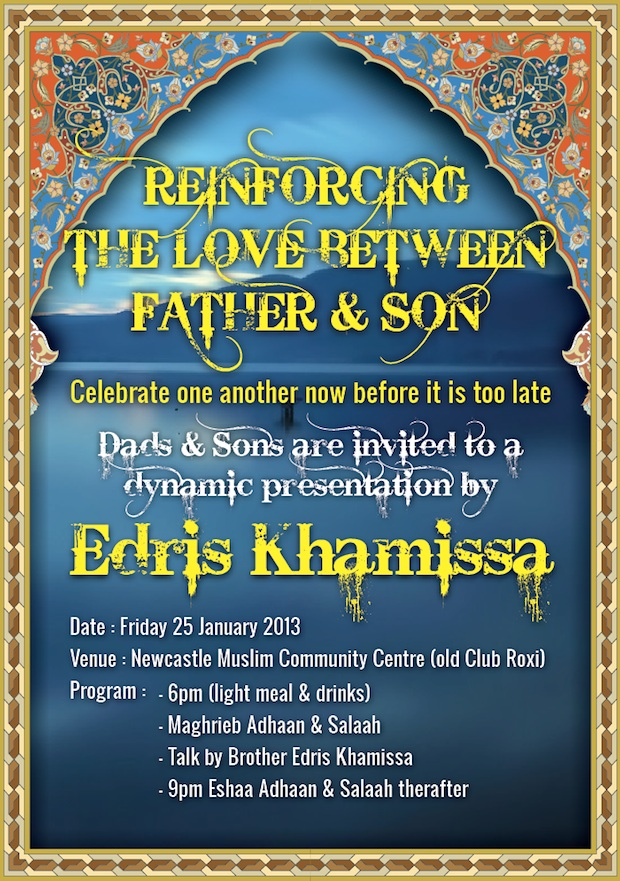 Edris Khamissa talks on Father-Son Relationships