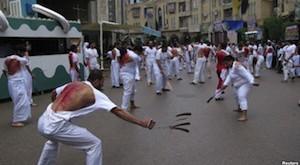 Shias at karbala during mataam