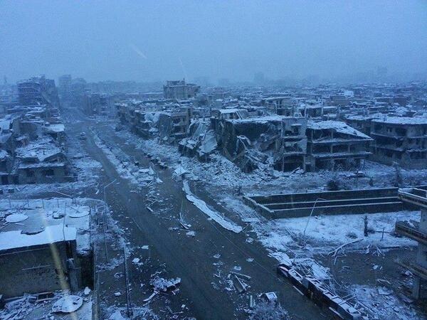 Winter in Homs