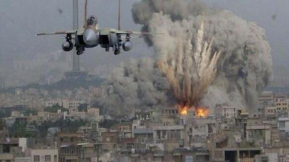 Israeli air strikes on Gaza.