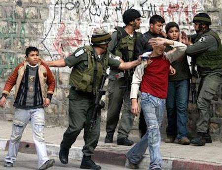 Each year approximately 700 Palestinian children aged 12 to 17, the great majority of them boys, are arrested, interrogated and detained by Israeli army.